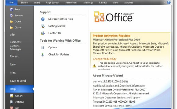 MS Office продуктов ключ